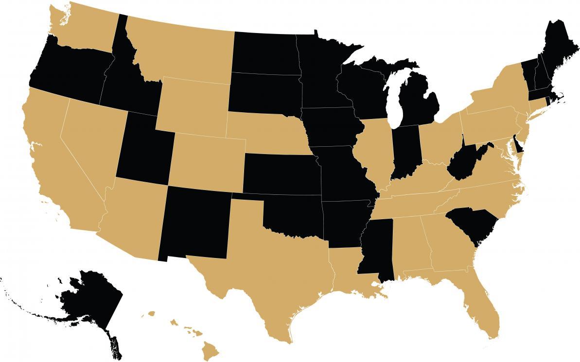 parlatore map usa locations